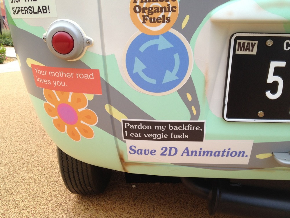 Art of Animation Cars Fillmore Save 2D Animation
