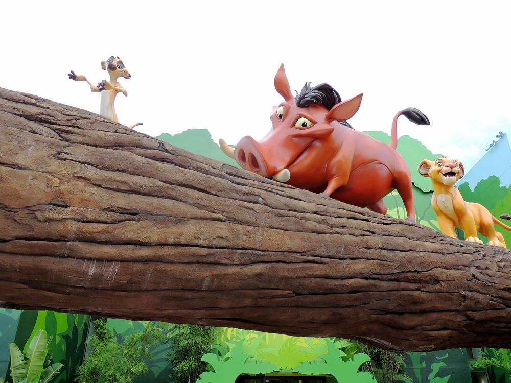 Art of Animation Lion King Timone, Pumba and Simba