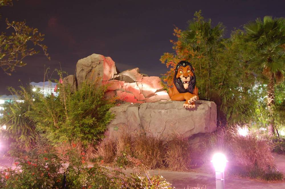 Art of Animation Lion King Scar at night