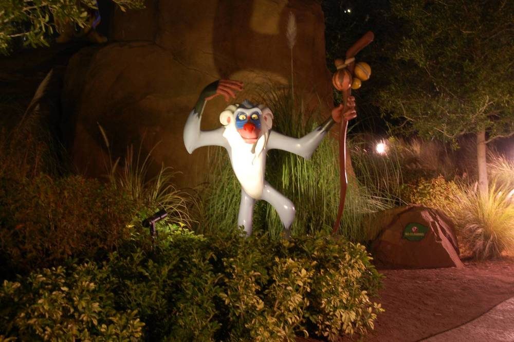 Art of Animation Lion King Rafiki at night