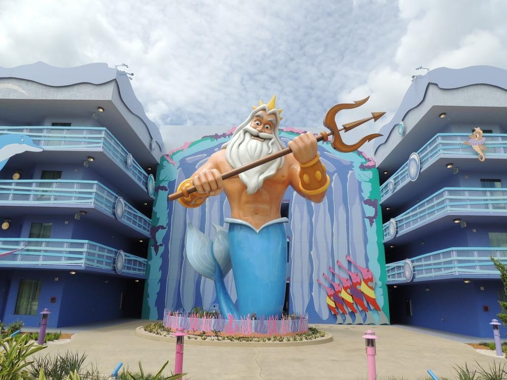 Art of Animation Little Mermaid King Triton