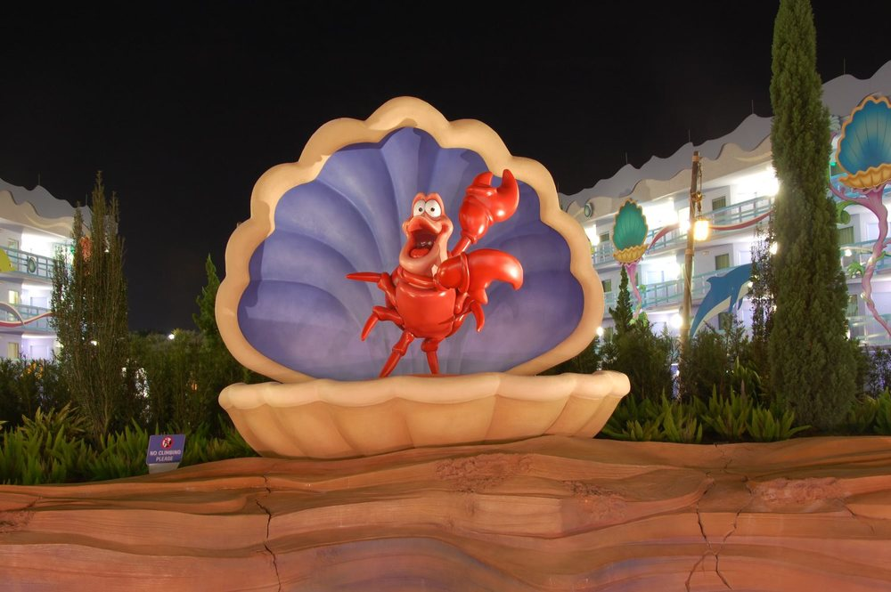 Art of Animation Little Mermaid Sebastian at night