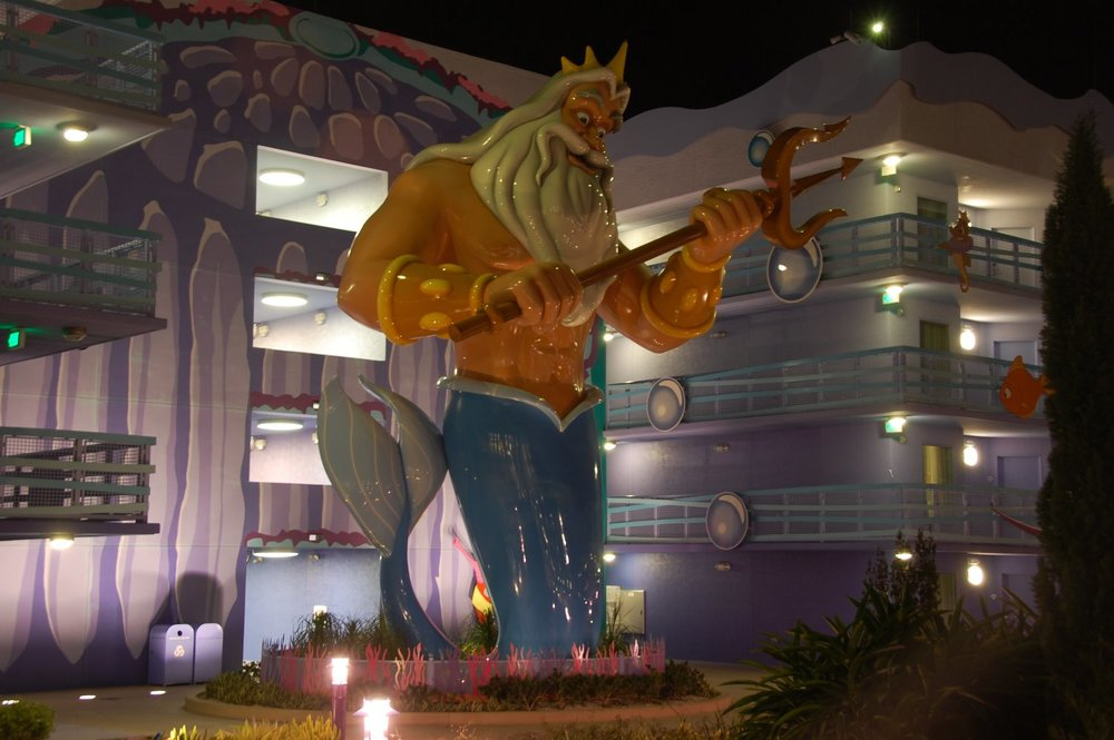 Art of Animation Little Mermaid King Triton at night