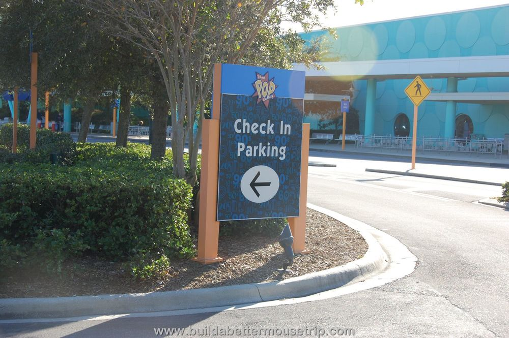 Pop Century Check-in Parking