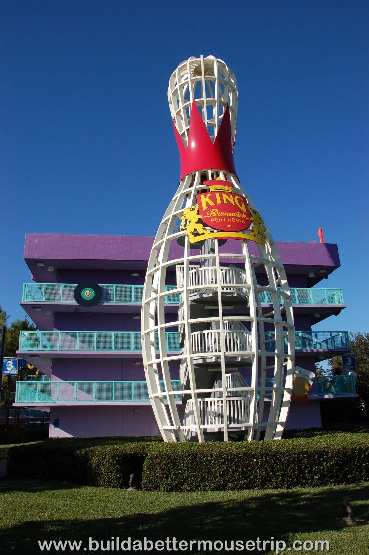 Pop Century 50's Bowling Pin Stairways