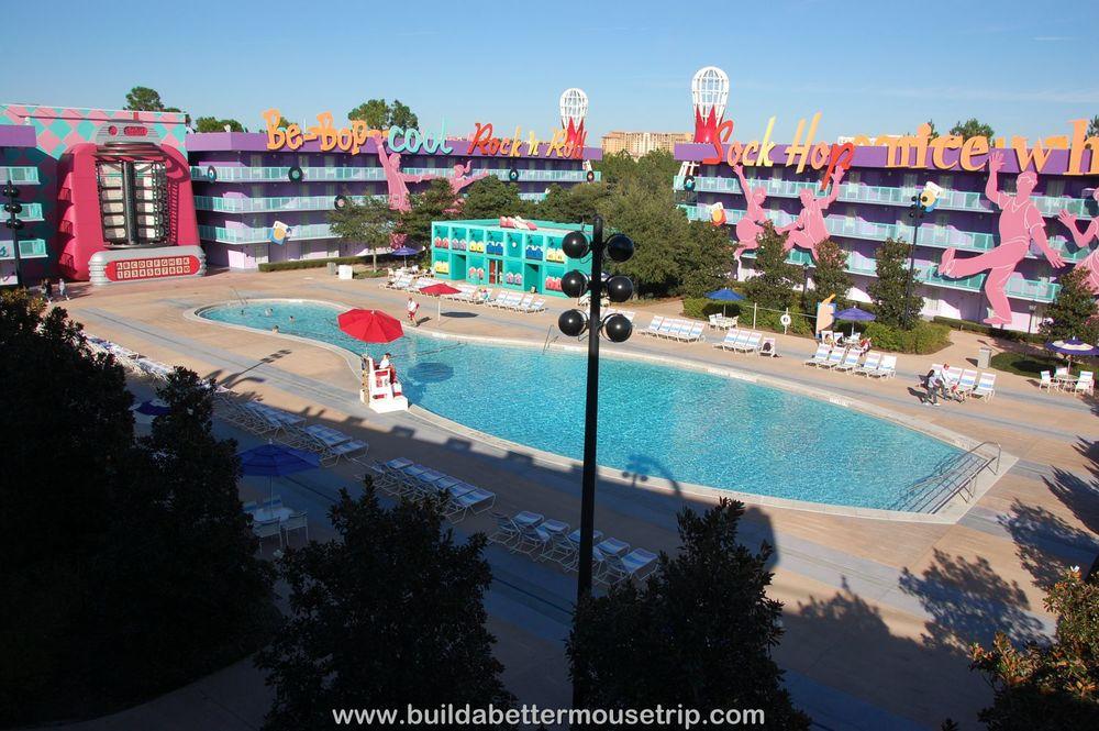 Pop Century 50's Bowling Pin Pool