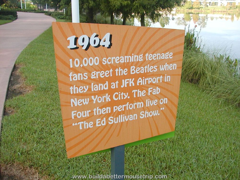 Pop Century 60's Signs by Hourglass Lake