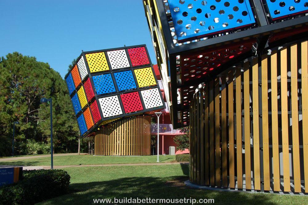 Pop Century 80's Rubik's Cube Stairs