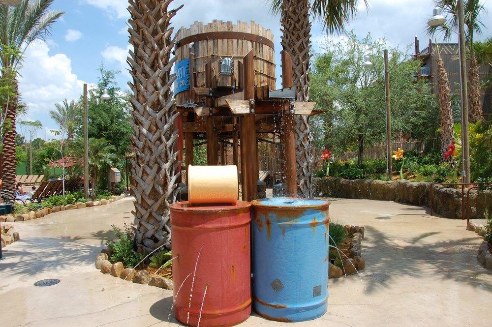 Kids love the wet play area in the Kidani Village section of Disney's Animal Kingdom Lodge. Samawati Springs Kids Splash Zone at Disney's Animal Kingdom Lodge - Kidani Villas.