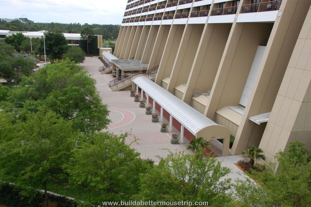 Disney's Contemporary Resort Photos & Information  - Contemporary covered path to the Garden Wing which offers the lowest priced rooms in the Magic Kingdom / Monorail resort loop.