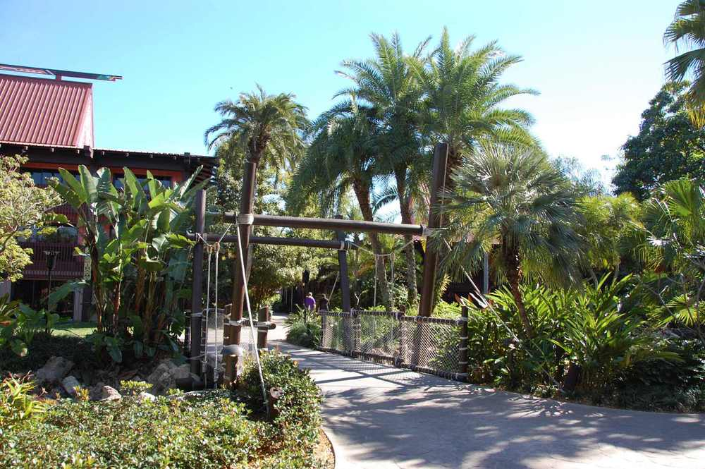 Bridge at Disney's Polynesian Village Resort & Villas / Disney World.