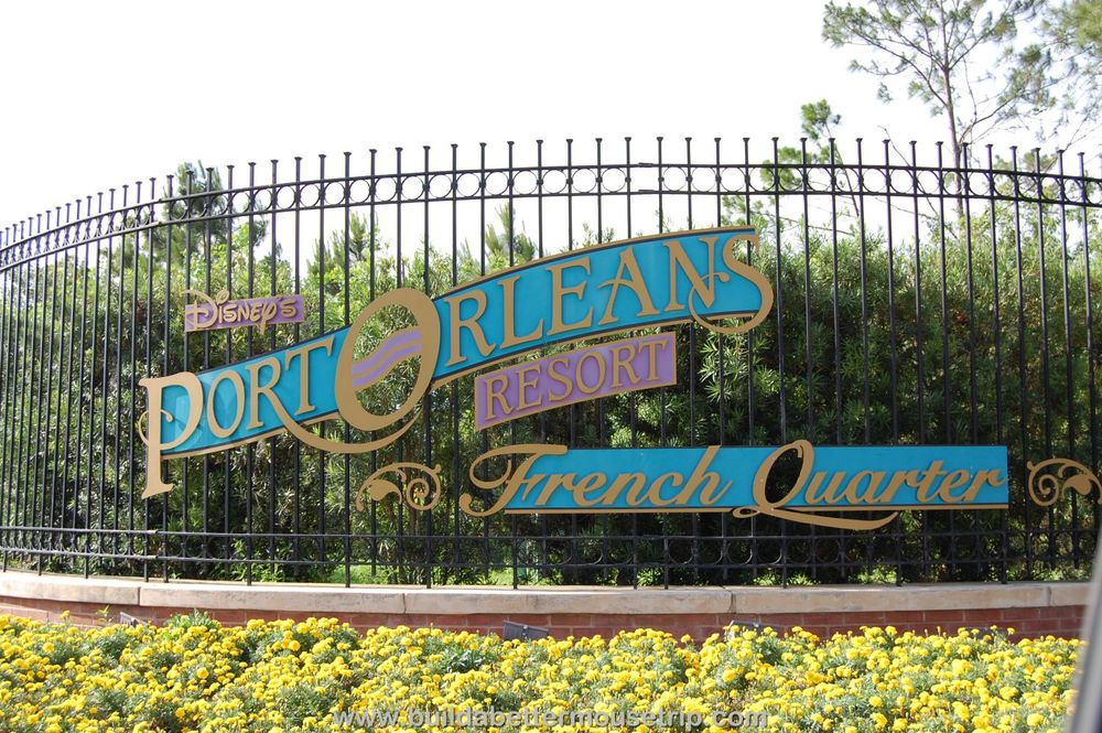 Port Orleans French Quarter Sign