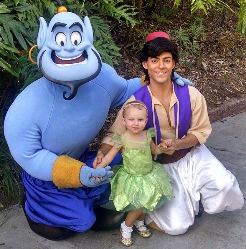 A Guide to Epcot with Little Kids - The Aladdin characters meet guests, sign autographs and pose for pictures in the Morocco pavilion