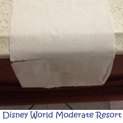Toilet paper at Disney World moderate hotels