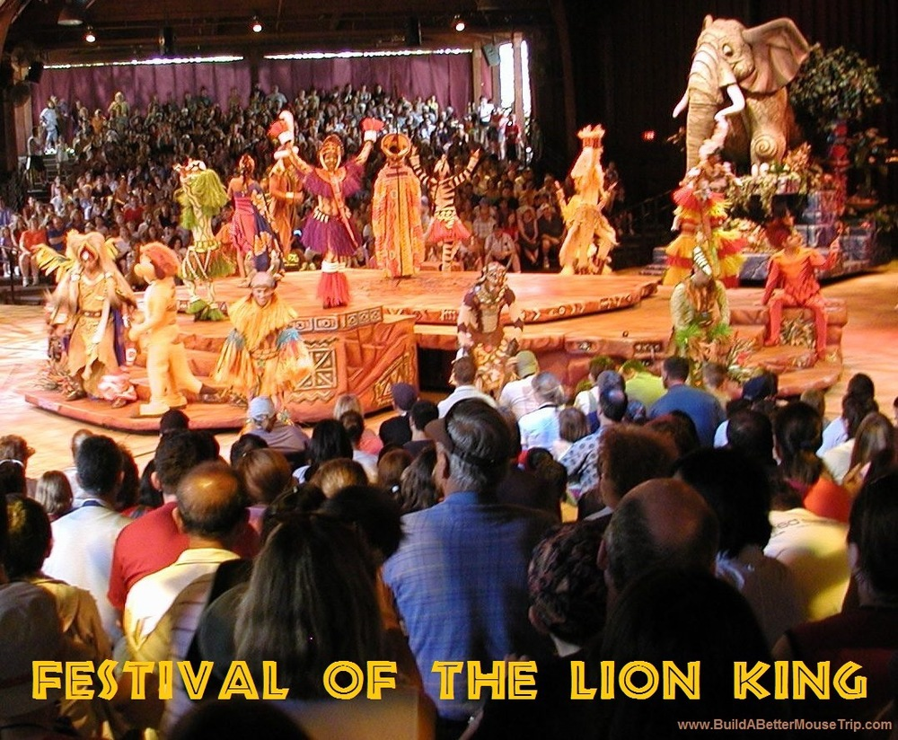 Festival of the Lion King  at Disney's Animal Kingdom Park - one of the places to find Lion King characters at Disney World.