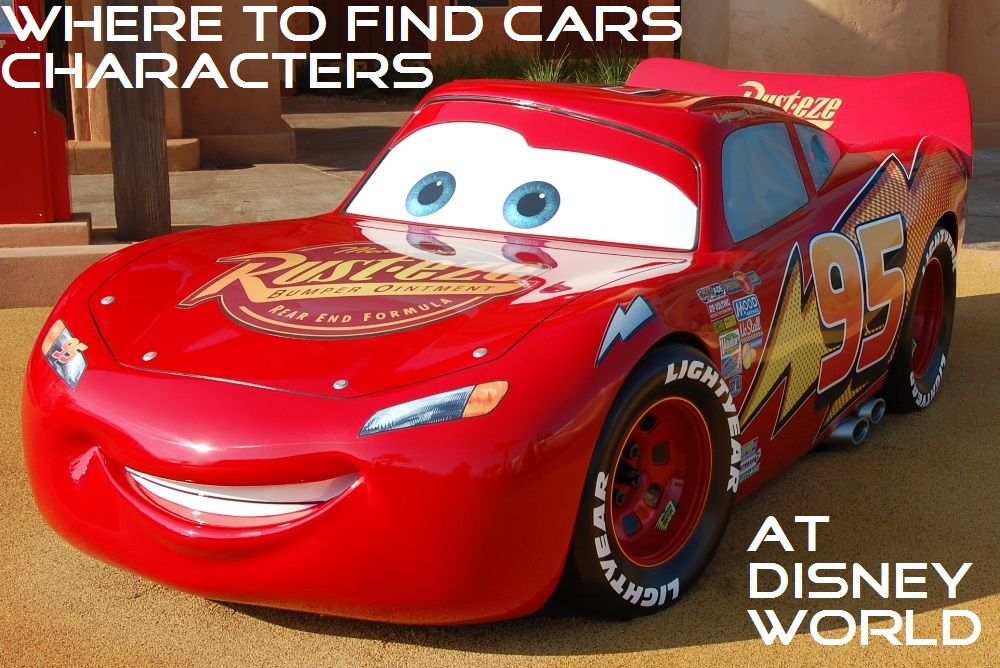 Great information to help you find Lightning McQueen, Mater, and the other Cars characters at Disney World; see: http://www.buildabettermousetrip.com/cars