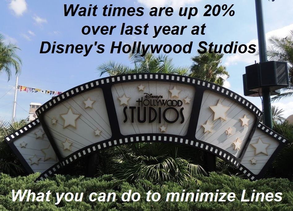 Disney's Hollywood Studios lines & wait times are up 20% over last year so here are some tips for keeping lines to a minimum.