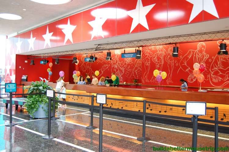 Check-in Desk at Disney's All-Star Music Resort