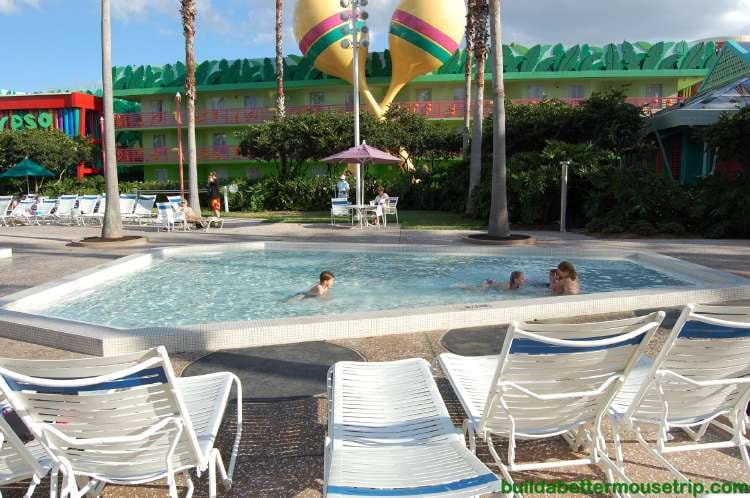 Children's wading pool area - Disney's All-Star Music Resort / Disney World - Florida.