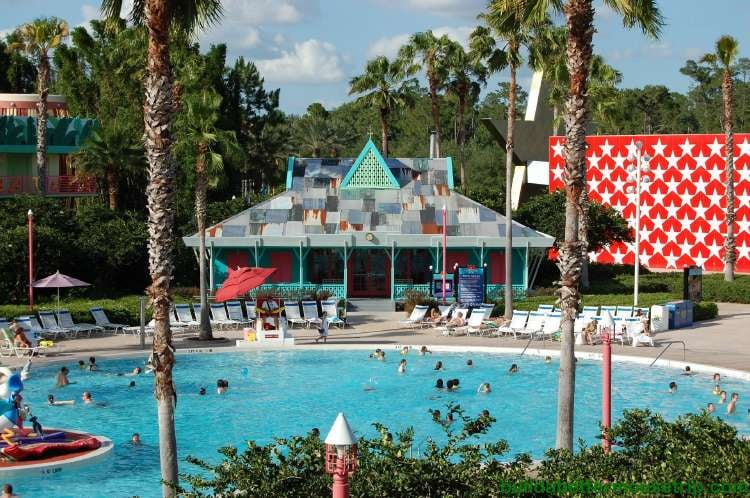 Bath house, restrooms and laundry fascilities at Disney's All-Star Music Resort