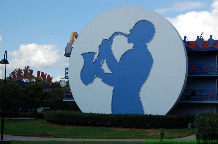 Jazz Inn section at Disney's All-Star Music Resort