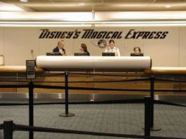 Disney's Magical Express welcome desk on the lower level of the B-side of the Orlando International Airport