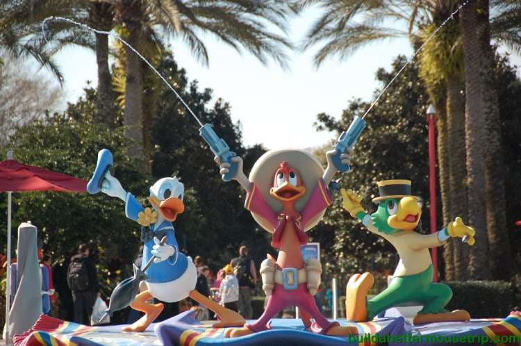 The Three Caballeros Fountain at Disney's All-Star Music Resort
