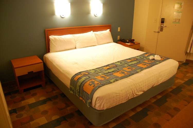 Some rooms at Disney's All-Star Music Resort have a King size bed.