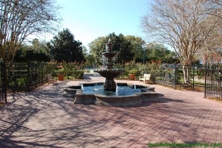 Courtyard fountain in the Jass section of Disney's All-Star Music Resort