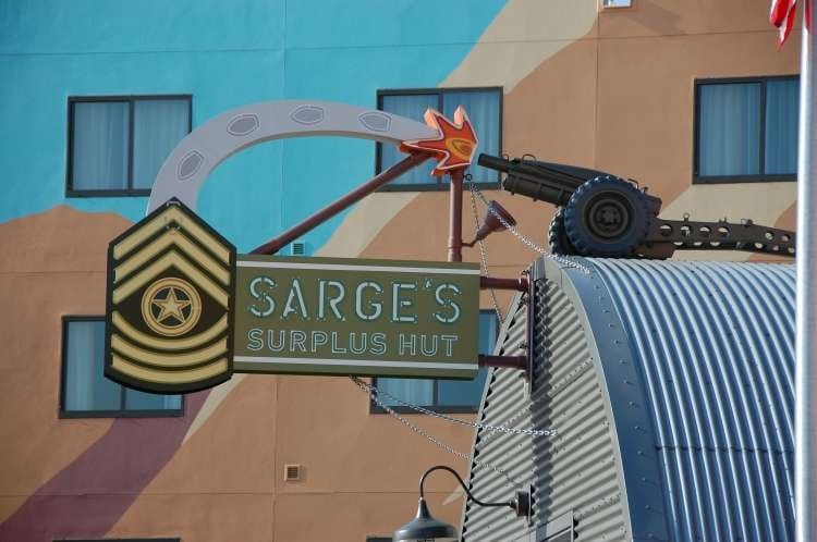 Art-of-Animation-514-Sarges-Surplus-Hut-sign-at-Disneys-Art-of-Animation-Resort.JPG