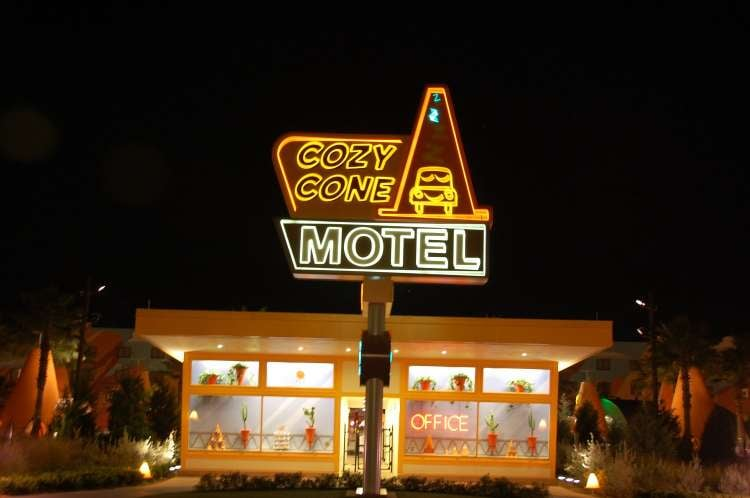 Disney's-Art-of-Animation-Cozy-Cone-Motel-at-night.JPG