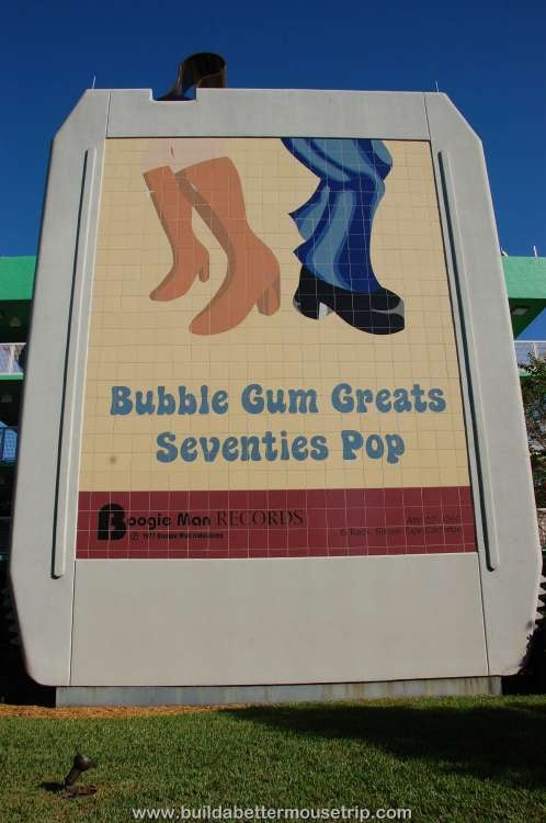 Bubble Gum Greats Seventies Pop 8-track tape staircase at Disney's Pop Century Resort