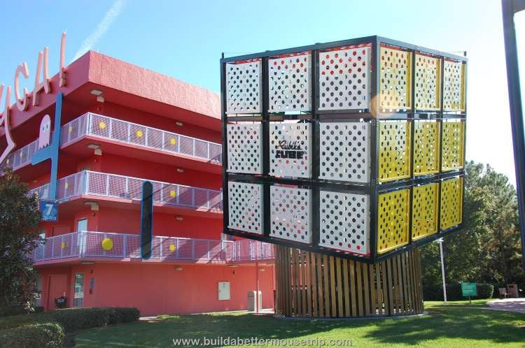 Rubix cube staircase at Disney's Pop Century Resort