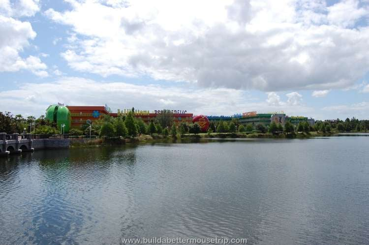 A view of the lake at Disney's Pop Century