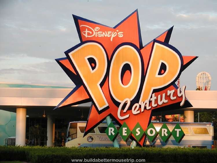 Disney's Pop Century Resort sign