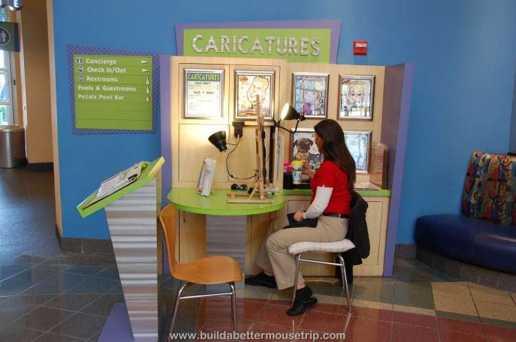 Caricature artist at Disney's Pop Century Resort
