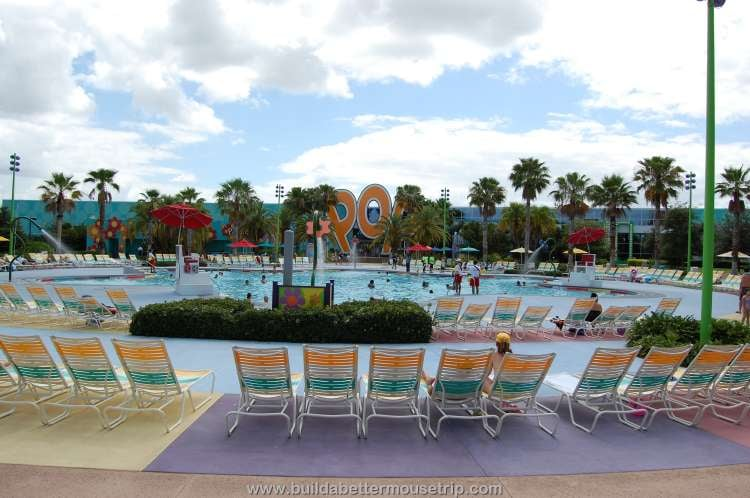 The Hippy Dippy Pool is the main feature pool at Disney's Pop Century Resort
