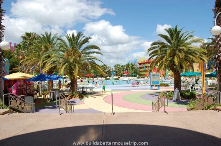 Main pool at Disney's Pop Century Resort