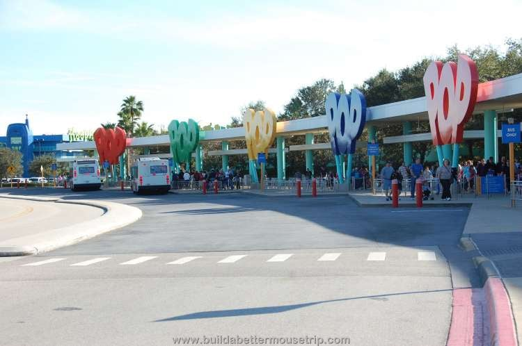 Complimentary bus transportation to the Disney World theme parks at Disney's Pop Century Resort