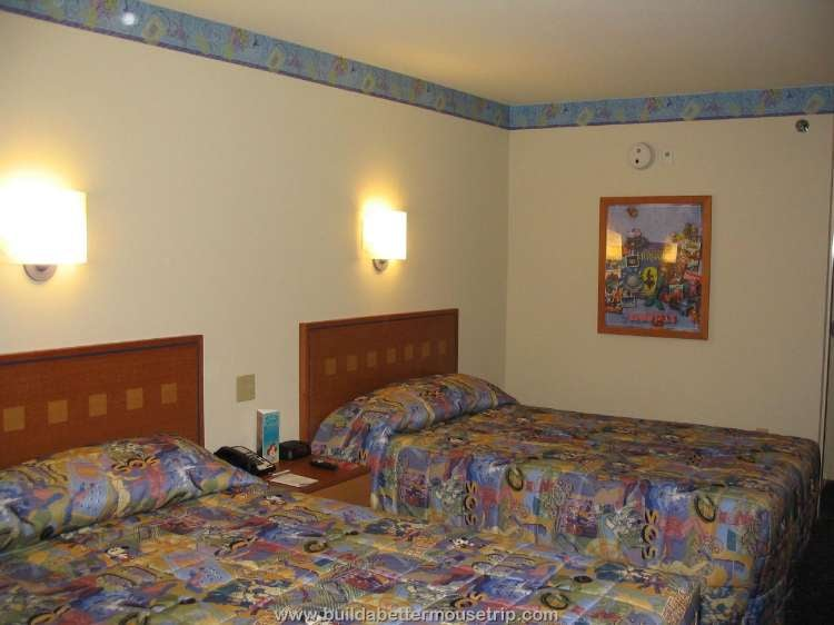 A room with two double beds at Disney's Pop Century Resort