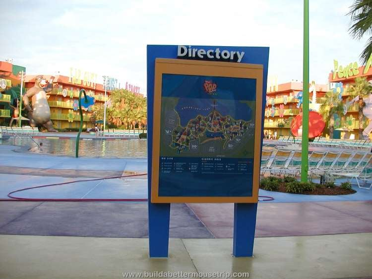 Map of Disney's Pop Century Resort