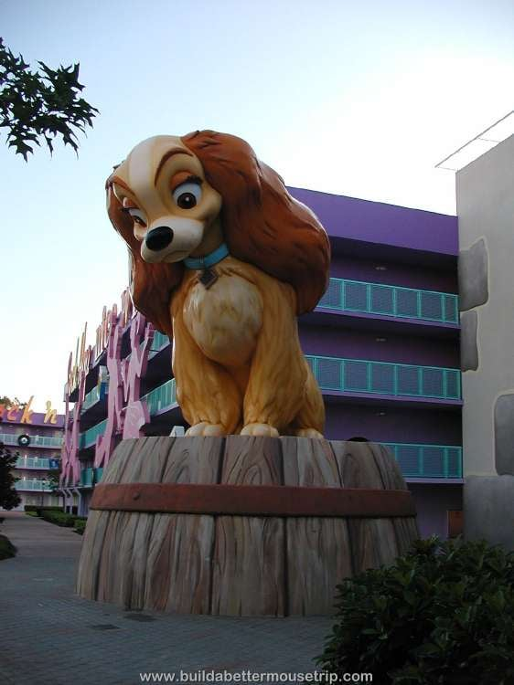 Lady, of Lady and the Tramp, at Disney's Pop Century Resort
