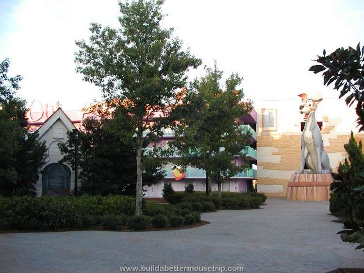Tramp building at Disney's Pop Century Resort