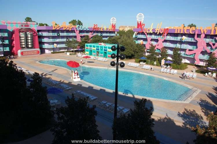 Bowling Pin shaped pool at Disney's Pop Century Resort