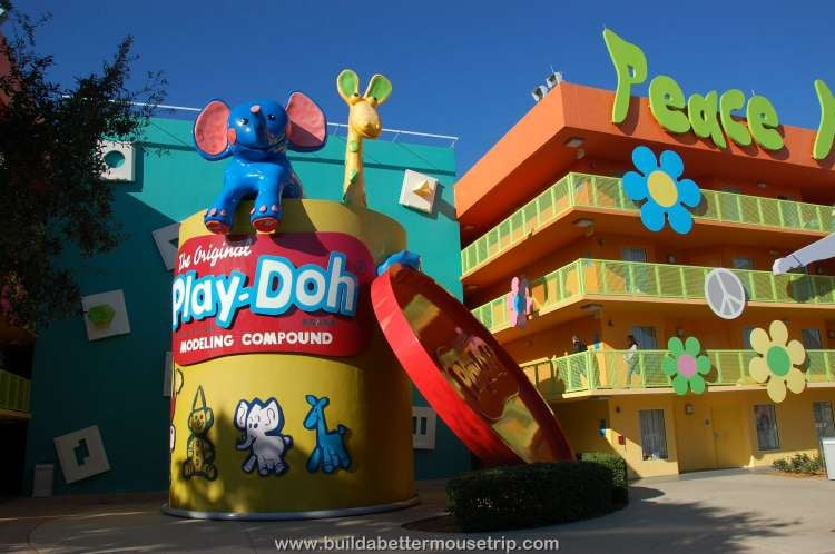 Play-Doh building at Disney's Pop Century Resort