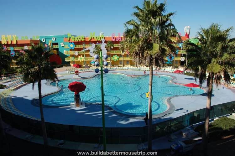 1960s area courtyard at Disney's Pop Century Resort
