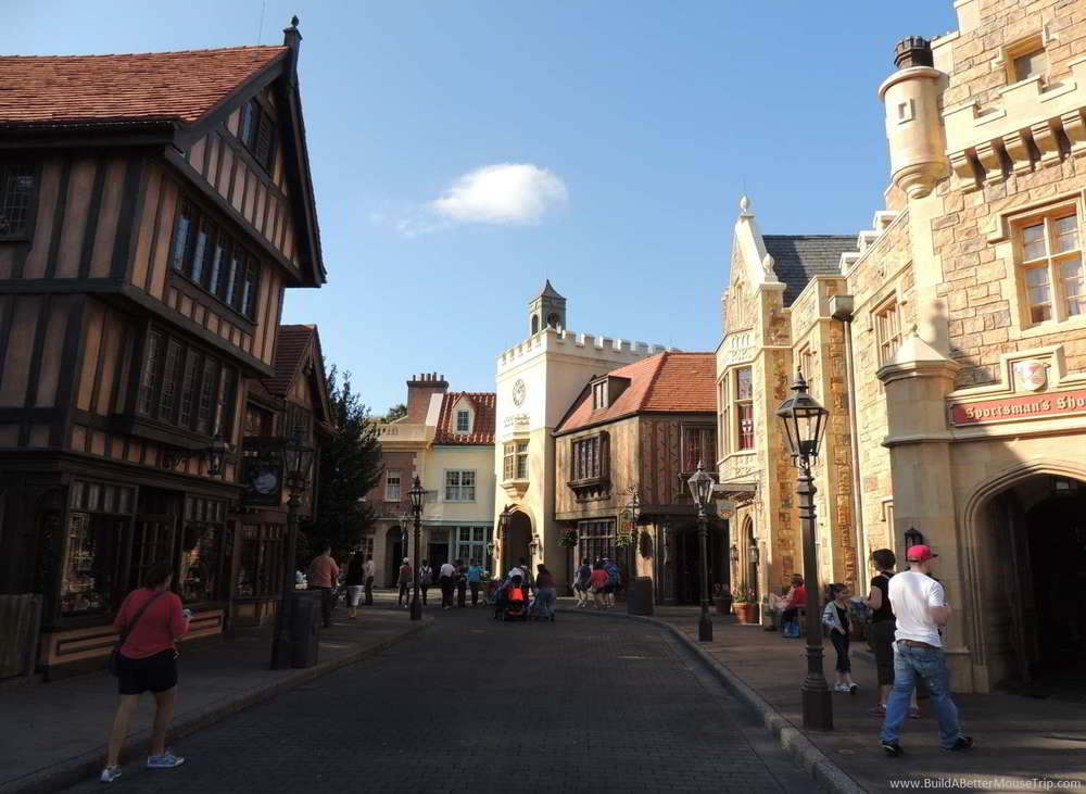 The United Kingdom pavilion in the World Showcase are of Epcot at Disney World.