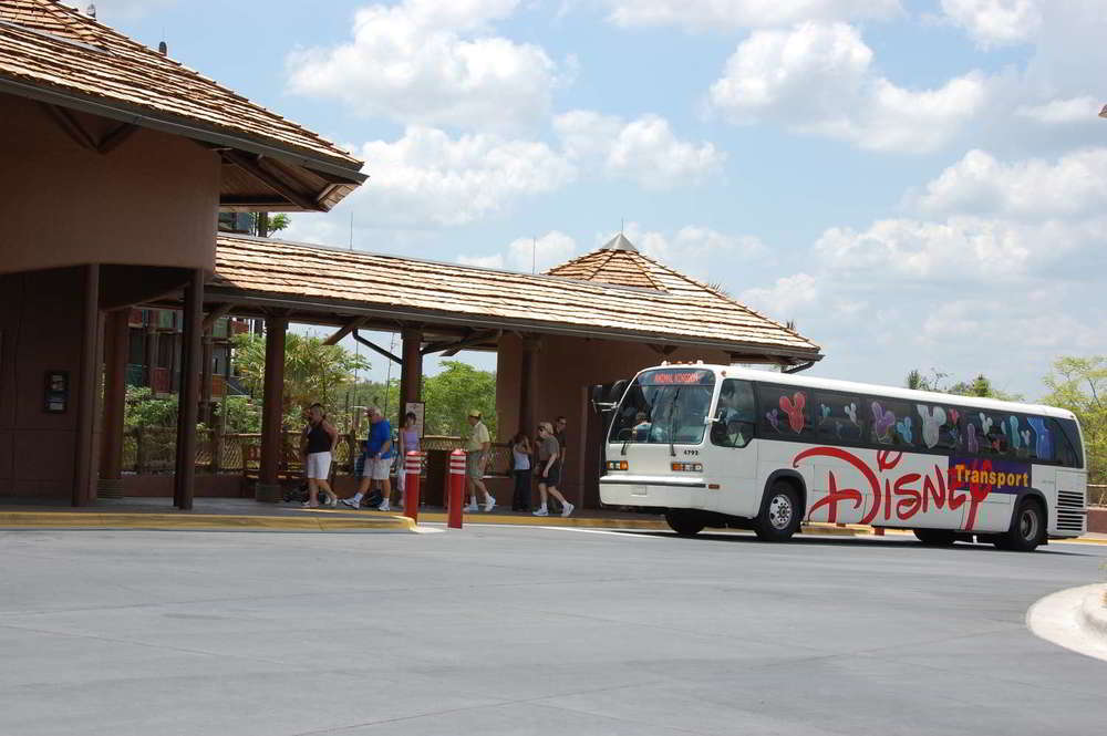 Disney's Animal Kingdom Lodge - Kidani Village Bus Stop.  Complimentary transportation is provided to the Disney World theme parks  and water parks.