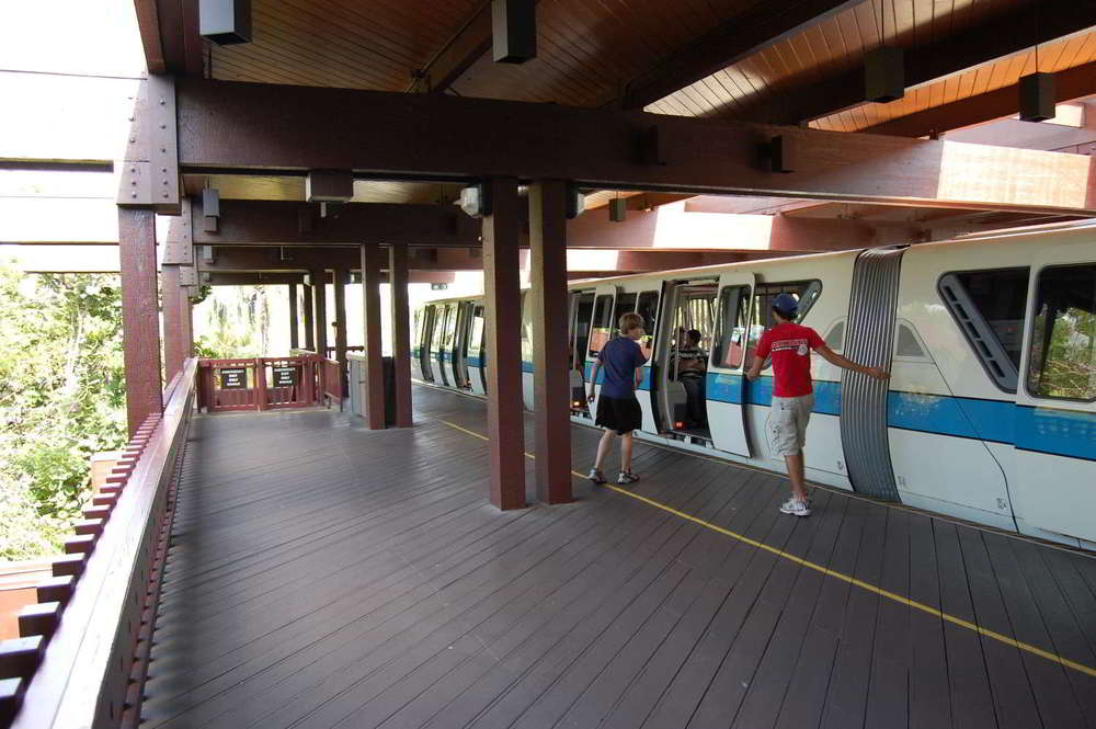 Monorail station at Disney's Polynesian Village Resort Hotel / Disney World.