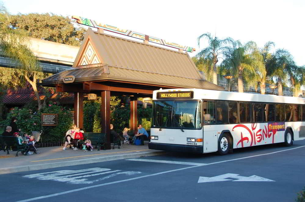 Disney's Polynesian Village Bus Stop provides theme park transportation.